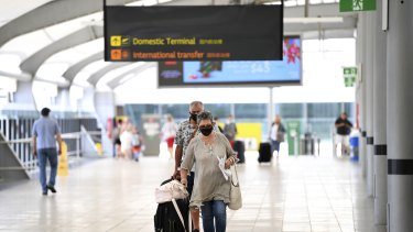 Passenger numbers at Brisbane Airport have dropped by more than half and international flights by 95 per cent.