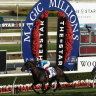 Redouble scores during last year's Magic Millions on the Gold Coast.
