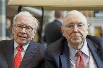 Berkshire Hathaway chairman Warren Buffet with long-time business partner Charlie Munger.