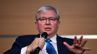 Former Australian prime minister Kevin Rudd says the nation's foreign policy is domestic politics by another means.
