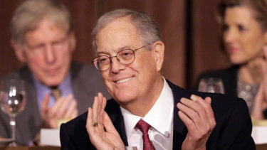 David Koch, pictured in 2012, has died at the age of 79.