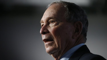 Democratic presidential candidate and former New York City mayor Mike Bloomberg.