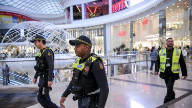 Security patrols are just one of the numerous measures being put in place by shopping centre owners.