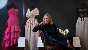 Still striking a pose ... Maggi Eckardt, who modelled for Balenciaga in the 1960s at the exhibition that opens on Saturday at Bendigo Art Gallery.