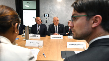 The first meeting in Brisbane last month where the government, social media companies and internet providers supported a taskforce.