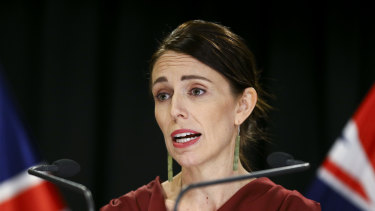 New Zealand Prime Minister Jacinda Ardern at a press conference earlier this month.