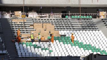 Education City stadium under construction.