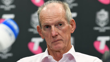 Heading south: Wayne Bennett has been unveiled as South Sydney's coach for the 2020 and 2021 NRL seasons.