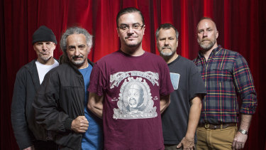 Mike Patton (centre) with his Faith No More bandmates (from left) Jon Hudson, Mike Bordin, Billy Gould and Roddy Bottum.