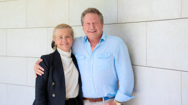 Nicola and Andrew Forrest have announced a $70 million donation to help bushfire recovery efforts.