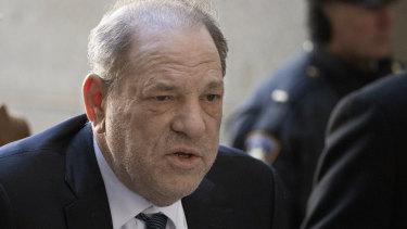 Harvey Weinstein at court in February.