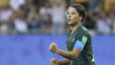 Sam Kerr is remaining focused on duties in Chicago in the face of interest from some big clubs.