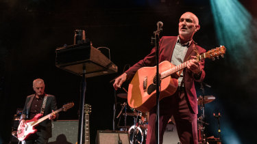 Paul Kelly playing at the Sidney Myer Music Bowl.