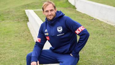 Big impact: Georg Niedermeier is hitting form at the perfect time for Melbourne Victory.