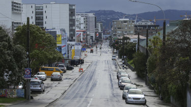 Wellington on the first day of a national lockdown.