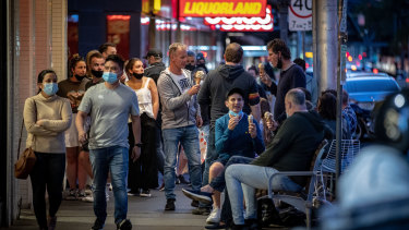 Customers flocked to pubs, restaurants and gelato shops on Wednesday night.