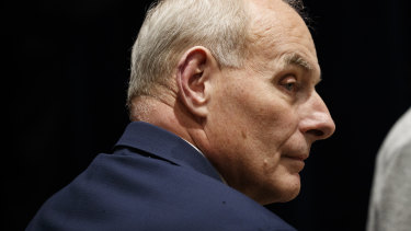 """Recently departed White House chief of staff, John Kelly, told Sims it was """"the worst [expletive] job I've ever had""""."""