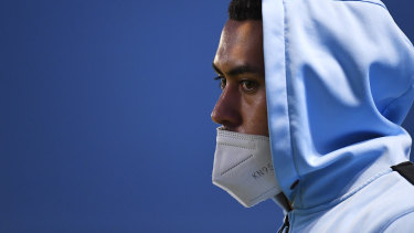 Fifita came off six minutes into the second half but remained on the sideline, shouting encouragement.