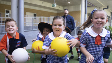 North Kellyville Public School, which opened last year, is fast filling its classrooms.