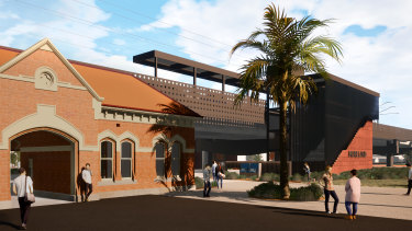 An artist's impression of the new Moreland Station.