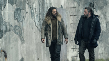 Viewers can expect to see much more of Jason Momoa, left, in the new film.