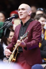 Paul Kelly performing at the 2012 Grand Final at the MCG.