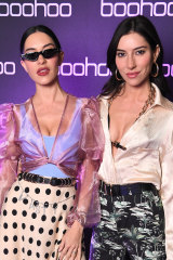 Jess and Lisa Origliasso at the boohoo, Nasty Gal and boohooMAN housewarming party.