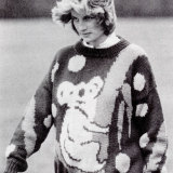 Princess Diana wore a koala jumper while 7 months pregnant with William.