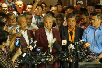 May 2018: At a late-night press conference, Mahathir Mohamad tells reporters Malaysia may be seeing its first change in government in 61 years.