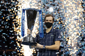 Victory in the season-ending tournament - held for the final time in London - is the biggest of Medvedev's career to date.