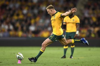 Reece Hodge in action for the Wallabies.