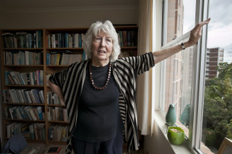 Elizabeth Harrower at her home in Cremorne at the time of publication of In Certain Circles