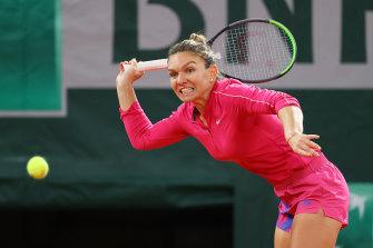 Simona Halep has tested positive for COVID-19.