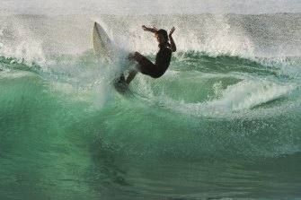 A surfer at North Narrabeen, which will host more than 50 of the world's best surfers.