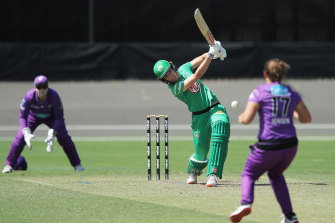 Annabel Sutherland's power was on show against the Hobart Hurricanes.