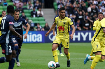 Ulises Davila in action during round 10 against Melbourne Victory.
