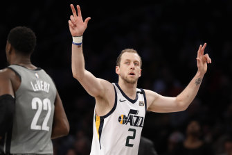 Joe Ingles was in red-hot form against the Nets.