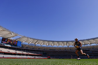 The AFL grand final is being held in Perth.