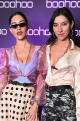 Jess and Lisa Origliasso at theboohoo, Nasty Gal and boohooMAN housewarming party.