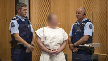 Brenton Tarrant in custody.