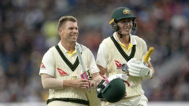 David Warner and Marnus Labuschagne top scored for Australia.