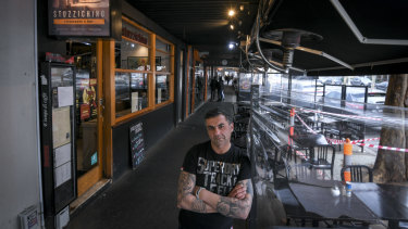 Angelo Gibaldi, owner of Stuzzichino on Lygon Street.