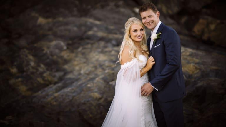 Hayley Jensen andKris Severijns on their wedding day.