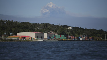 Vanuatu's new wharf.