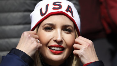 Ivanka Trump  at the 2018 Winter Olympics in Pyeongchang, South Korea, in February.