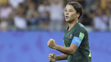 Australia's Sam Kerr is in the running for the top FIFA award once again.