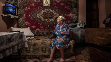 Valentina Artin at her home in the village of Vadul-Leca, Moldova. She left Dobrusa in 2012 with her grandchildren.