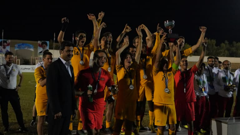 Celebrations: the Pararoos after qualifying for the World Cup.