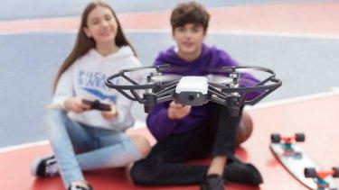 The tiny Tello drone from Ryze caught Kogan's eye.