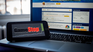It's on again: GameStop shares double after tumbling for weeks